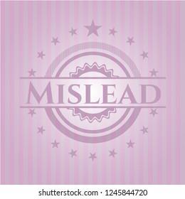 Mislead retro pink emblem