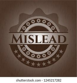 Mislead retro style wooden emblem