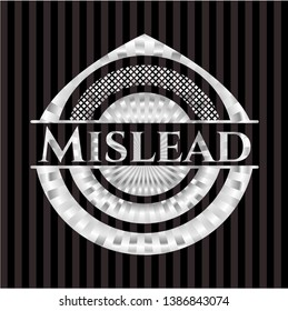 Mislead silvery badge or emblem. Vector Illustration. Mosaic.