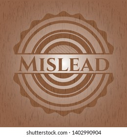 Mislead wood emblem. Vintage. Vector Illustration.