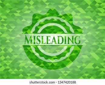 Misleading green mosaic emblem