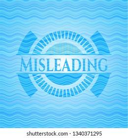 Misleading light blue water emblem background.