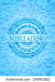 Misleading realistic light blue mosaic emblem