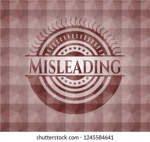 Misleading red seamless geometric emblem.
