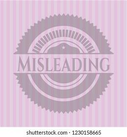 Misleading retro style pink emblem