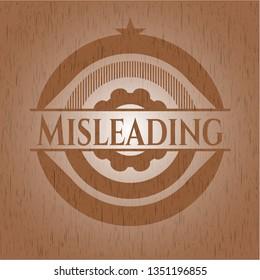 Misleading retro style wooden emblem