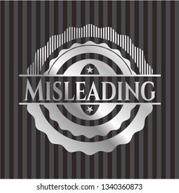 Misleading silver badge or emblem