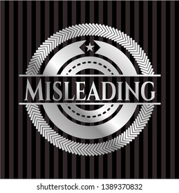 Misleading silver shiny badge. Vector Illustration. Mosaic.