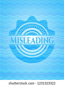 Misleading water concept style badge.