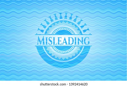 Misleading water wave concept badge. Vector Illustration. Detailed.