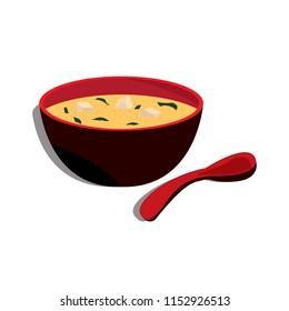Miso soup icon. Vector.