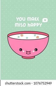 Miso soup vector illustration