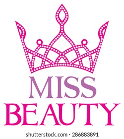 miss beauty sign with diamond tiara