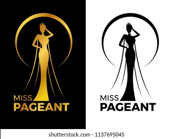 beauty pageant logo design