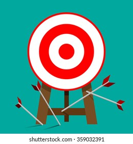 Miss target, goals vector success business strategy concept icon