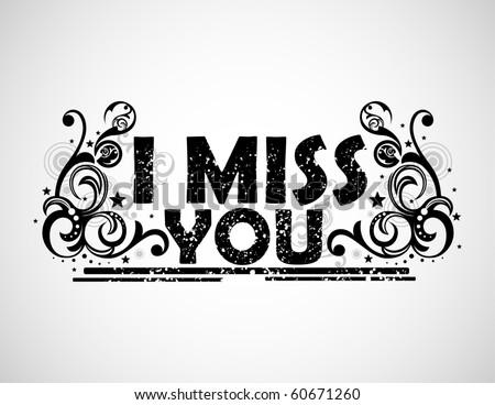 Miss You Background Stockvector Rechtenvrij 60671260 Shutterstock