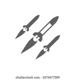 Missile rocket icon in trendy flat style isolated on white background. Symbol for your web site design, logo, app, UI. Vector illustration, EPS