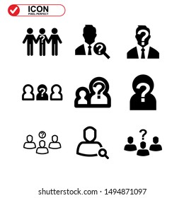 missing person icon isolated sign symbol vector illustration - Collection of high quality black style vector icons