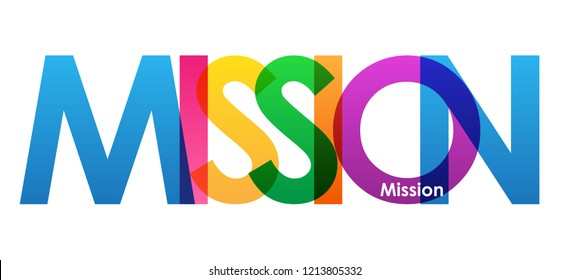 MISSION colorful letters banner