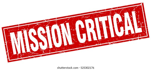 mission critical. stamp. square grunge isolated mission critical sign