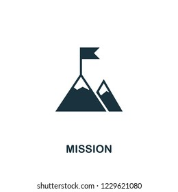 Mission icon. Premium style design from teamwork icon collection. UI and UX. Pixel perfect Mission icon for web design, apps, software, print usage.