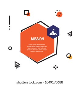 Mission Infographic Icon