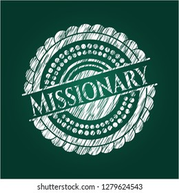 Missionary with chalkboard texture