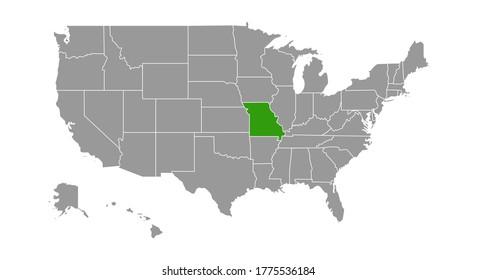 Missouri Locate Map. Vector illustration.