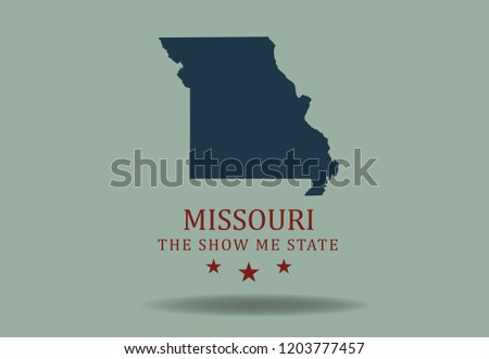 Show Me The State Map.Missouri State Map Nickname Show Me Stock Vector Royalty Free