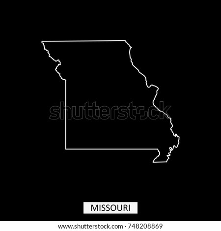 Missouri State USA Map Vector Outline Stock Vector (Royalty Free ...