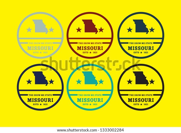 Missouri Usa Map Logo Design Concept Stock Vector (Royalty ...