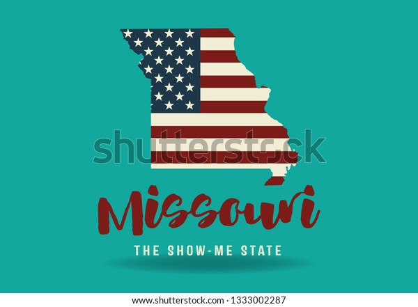 Missouri Usa Map Logo Design Concept Stock Image | Download Now