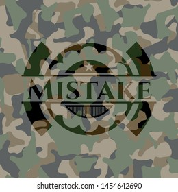 Mistake on camouflage pattern. Vector Illustration. Detailed.
