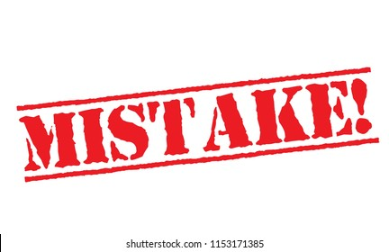 Mistake typographic stamp