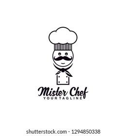 mister chef logo design