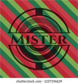 Mister christmas style badge..