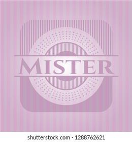 Mister pink emblem
