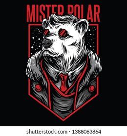 Mister Polar Red Mafia Illustration