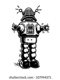 Mister Robot - Retro Clipart Illustration