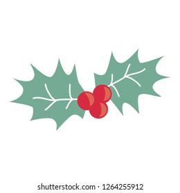 mistletoe vector illustration. Christmas vector symbol.