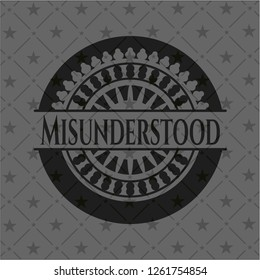 Misunderstood realistic black emblem