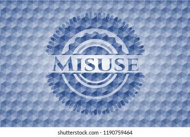 Misuse blue badge with geometric background.