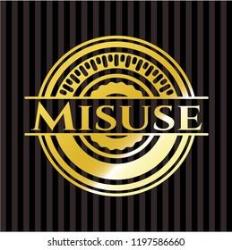 Misuse gold shiny badge
