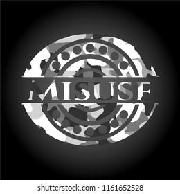 Misuse grey camo emblem