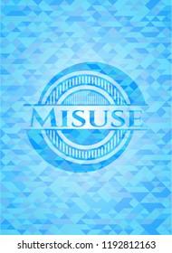 Misuse light blue mosaic emblem