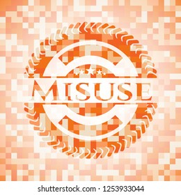 Misuse orange mosaic emblem