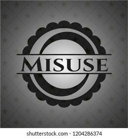 Misuse realistic black emblem