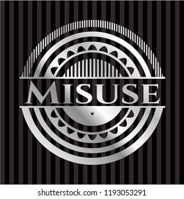 Misuse silvery shiny emblem