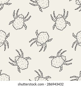 mite doodle seamless pattern background