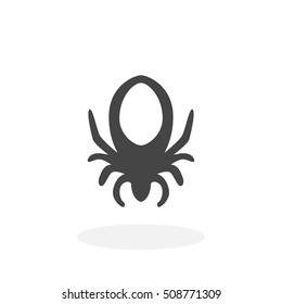 Mite icon isolated on white background. Mite vector logo. Flat design style. Modern vector pictogram for web graphics - stock vector